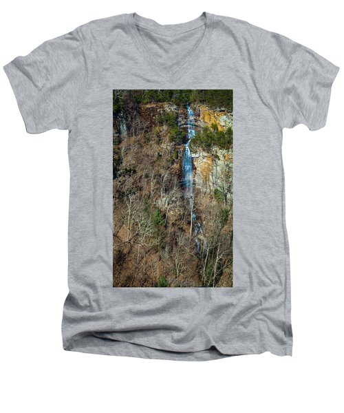 Early  Spring Waterfall  Men's V-Neck T-Shirt