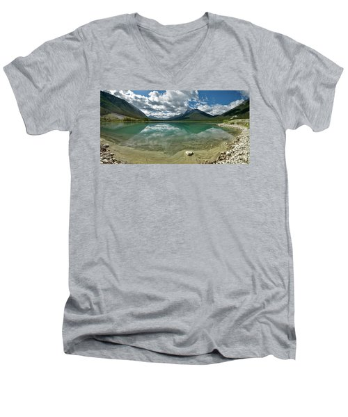 Men's V-Neck T-Shirt featuring the photograph Early Summer Day On Goat Pond by Sebastien Coursol