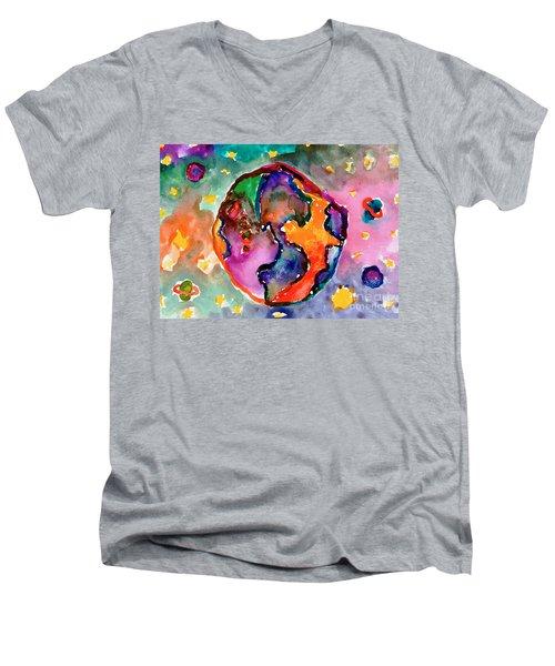 Earth Men's V-Neck T-Shirt