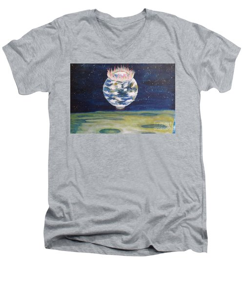 Earth Aura Men's V-Neck T-Shirt