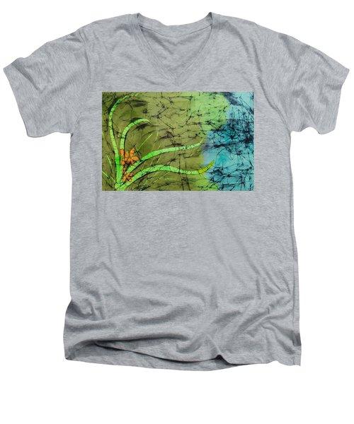 Earth Flower Men's V-Neck T-Shirt