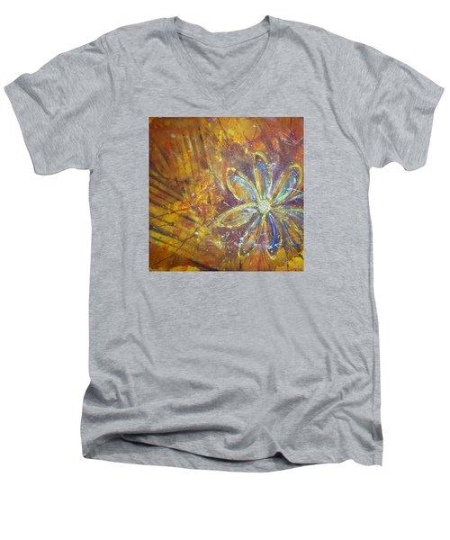 Earth Flower Men's V-Neck T-Shirt by Tracy Bonin