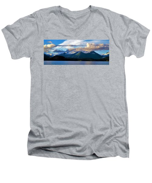 Earth Men's V-Neck T-Shirt by Martin Cline