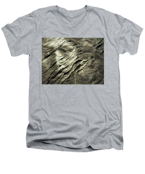 Men's V-Neck T-Shirt featuring the photograph Earth Memories - Sleeping River # 4 by Ed Hall