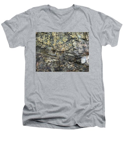 Men's V-Neck T-Shirt featuring the photograph Earth Memories - Stone # 6 by Ed Hall
