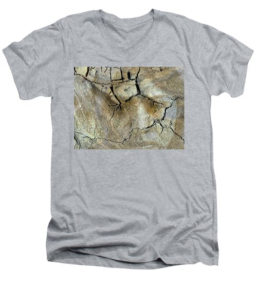 Men's V-Neck T-Shirt featuring the photograph Earth Memories-thirsty Earth by Ed Hall