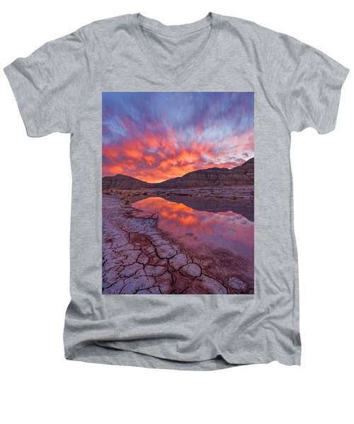 Earth Scales Men's V-Neck T-Shirt