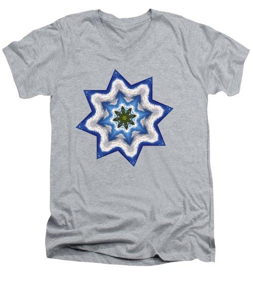 Earth Through A Star Men's V-Neck T-Shirt by Kaye Menner