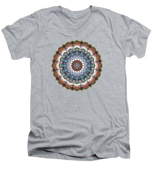 Earth Tones Mandala Men's V-Neck T-Shirt