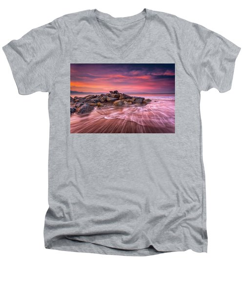 Earth, Water And Sky Men's V-Neck T-Shirt by Edward Kreis