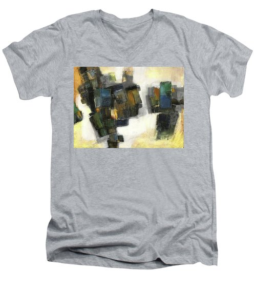 Lemon And Tiles Men's V-Neck T-Shirt