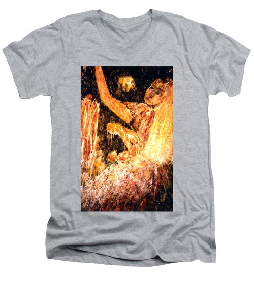 Earthy Goddess Men's V-Neck T-Shirt