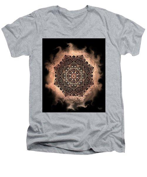 Earthy Mandala Men's V-Neck T-Shirt