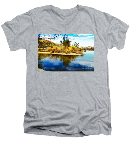 East Bay, Canyon Lake, Ca Men's V-Neck T-Shirt