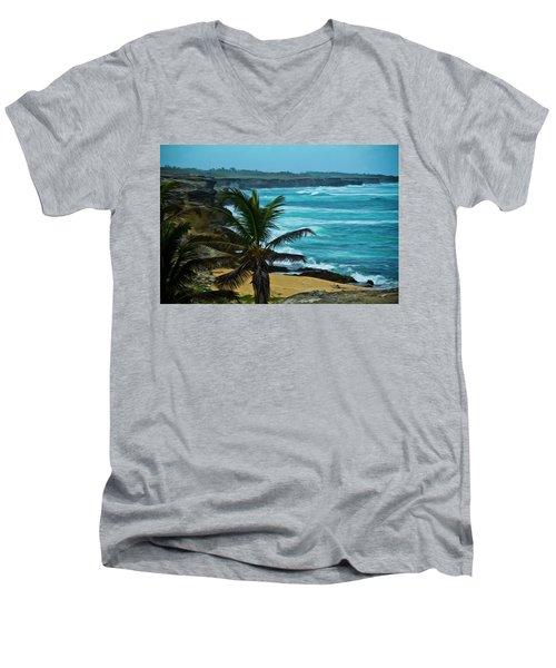 East Coast Bay Men's V-Neck T-Shirt