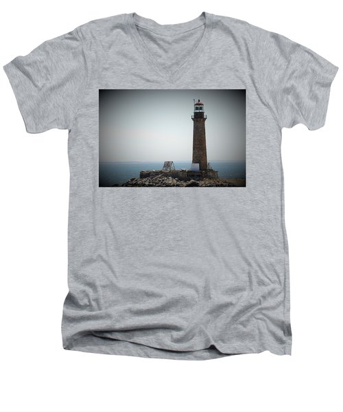 East Coast Lighthouse Men's V-Neck T-Shirt