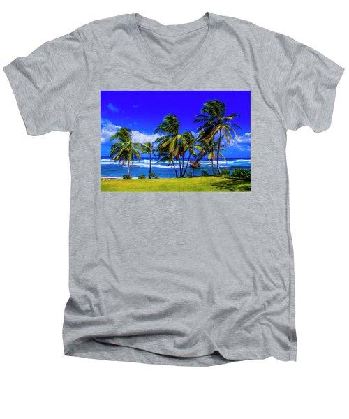 East Coast Men's V-Neck T-Shirt