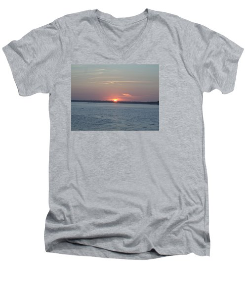 Men's V-Neck T-Shirt featuring the photograph East Cut by Newwwman