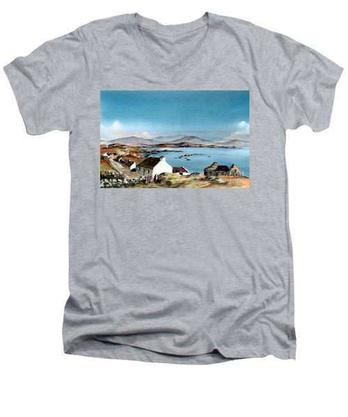 East End, Inishboffin, Galway Men's V-Neck T-Shirt