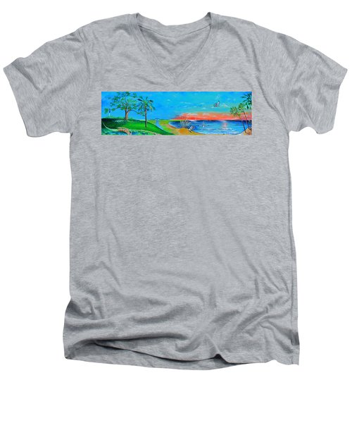 East Of The Cooper Men's V-Neck T-Shirt