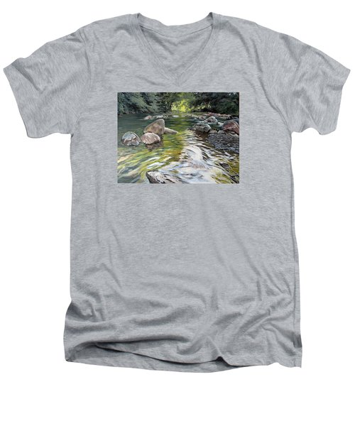 East Okement River Men's V-Neck T-Shirt