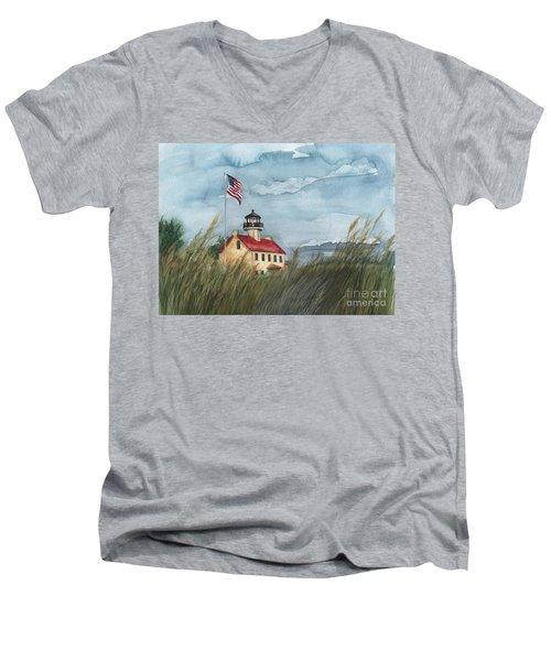 East Point Lighthouse Men's V-Neck T-Shirt