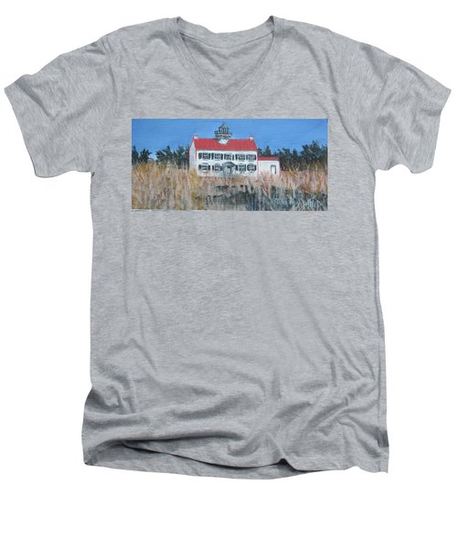 East Point Lighthouse Men's V-Neck T-Shirt