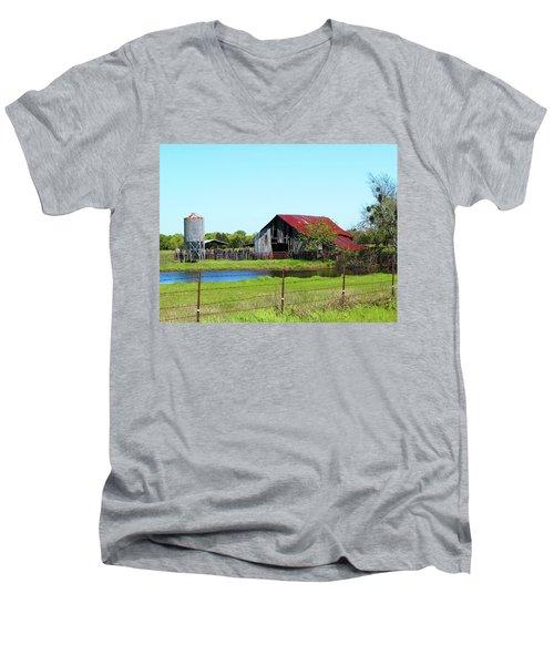 East Texas Barn Men's V-Neck T-Shirt