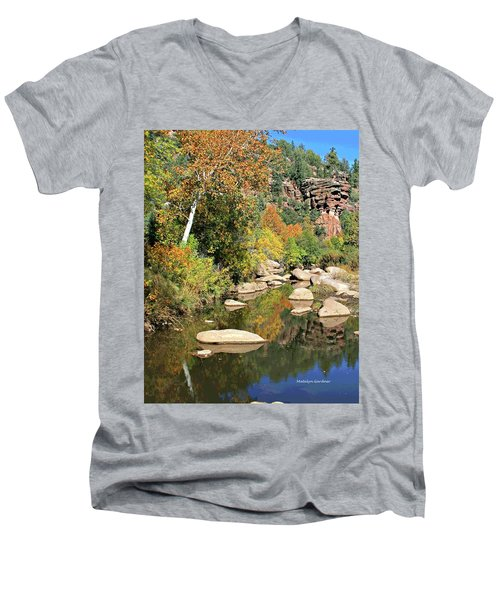 East Verde Fall Crossing Men's V-Neck T-Shirt
