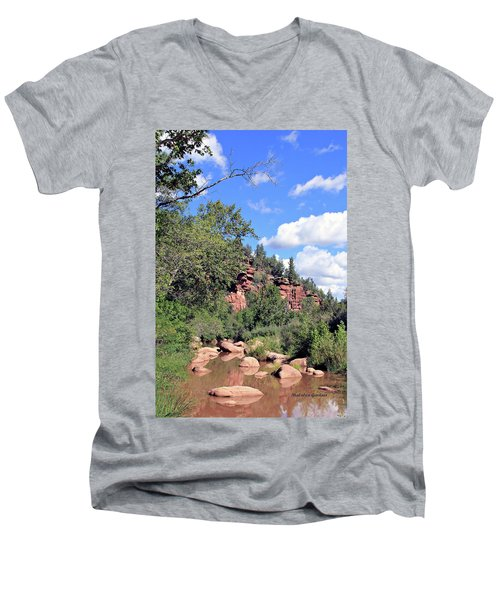East Verde Summer Crossing Men's V-Neck T-Shirt