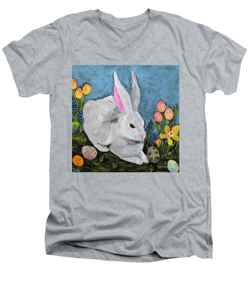 Easter Bunny  Men's V-Neck T-Shirt