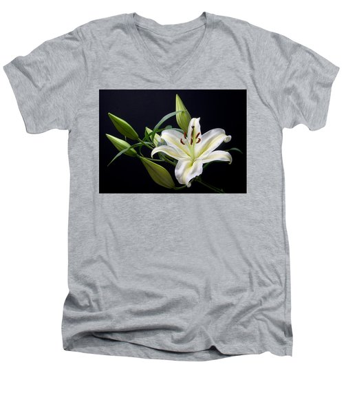 Easter Lily 3 Men's V-Neck T-Shirt