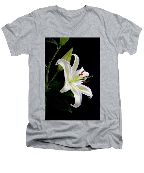 Easter Lily 5 Men's V-Neck T-Shirt