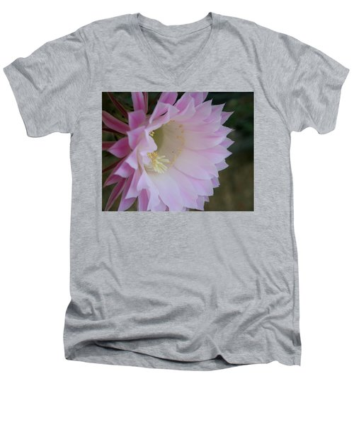 Easter Lily Cactus East Men's V-Neck T-Shirt
