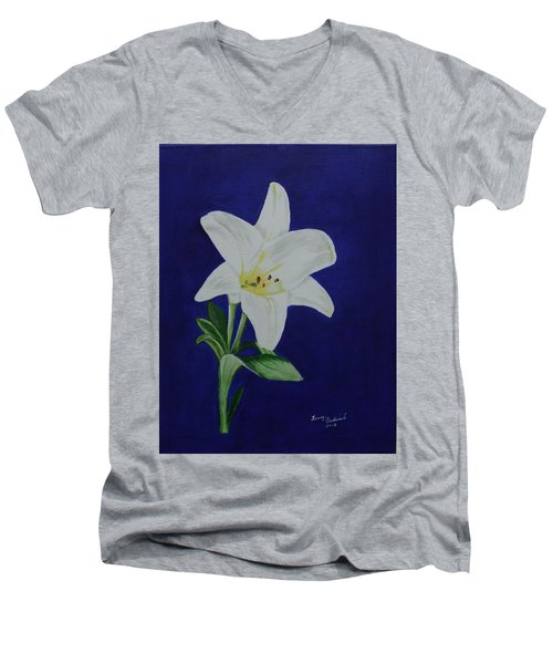 Easter Lily Men's V-Neck T-Shirt