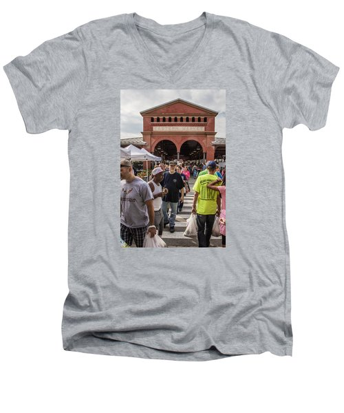 Eastern Market Summer Detroit  Men's V-Neck T-Shirt