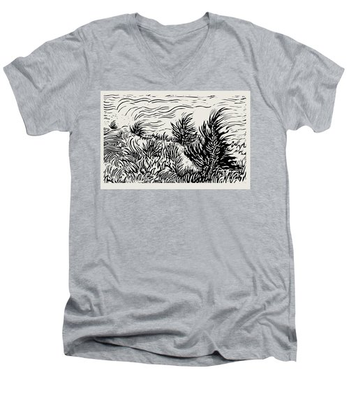 Eastern Red Cedar Men's V-Neck T-Shirt