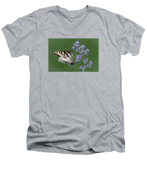Eastern Tiger Swallowtail Profile Men's V-Neck T-Shirt by Patti Deters
