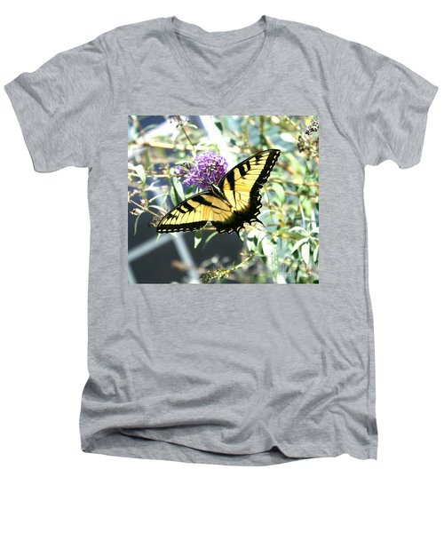 Eastern Tiger Swallowtail Butterfly Men's V-Neck T-Shirt