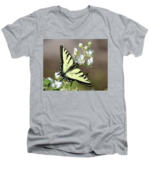 Eastern Tiger Swallowtail Female Men's V-Neck T-Shirt