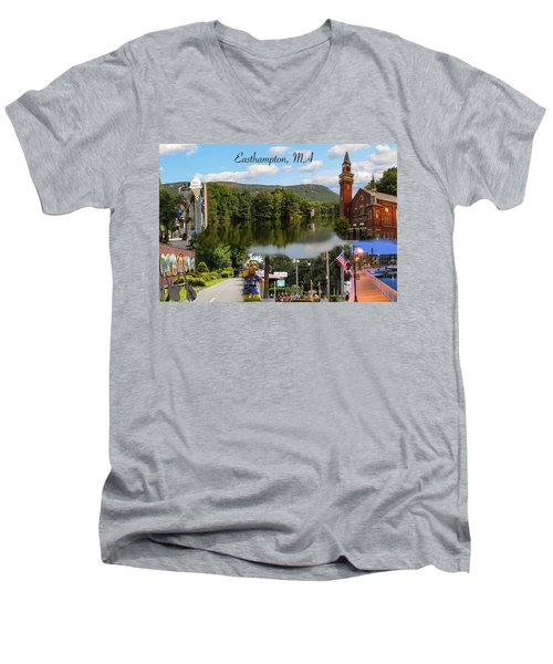 Easthampton Ma Collage Men's V-Neck T-Shirt