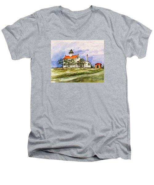 East Point Lighthouse Glory Days  Men's V-Neck T-Shirt
