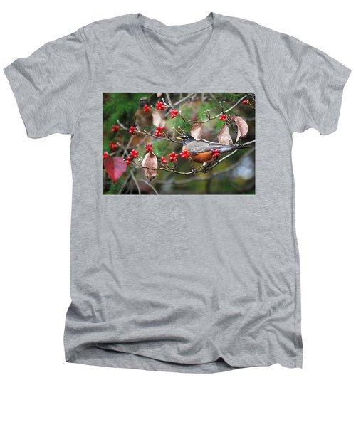 Easy Pickings Robin Men's V-Neck T-Shirt