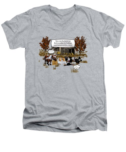 Eat More Turkey Men's V-Neck T-Shirt