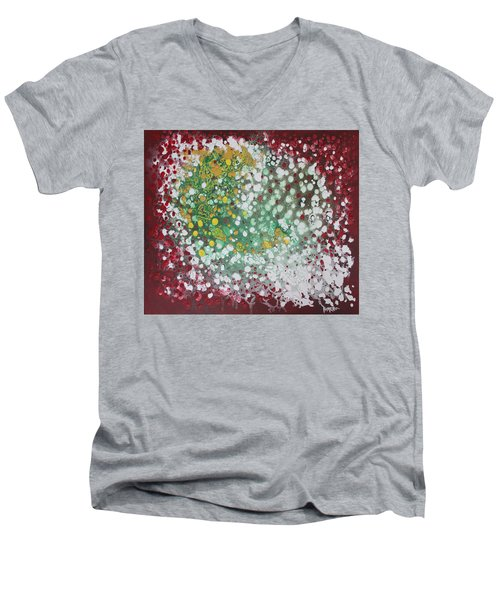 Ebola Contained Men's V-Neck T-Shirt by Antonio Romero