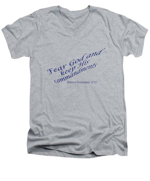 Ecclesiastes 12-13 Fear God Men's V-Neck T-Shirt