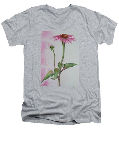 Echinacea Men's V-Neck T-Shirt by Ruth Kamenev
