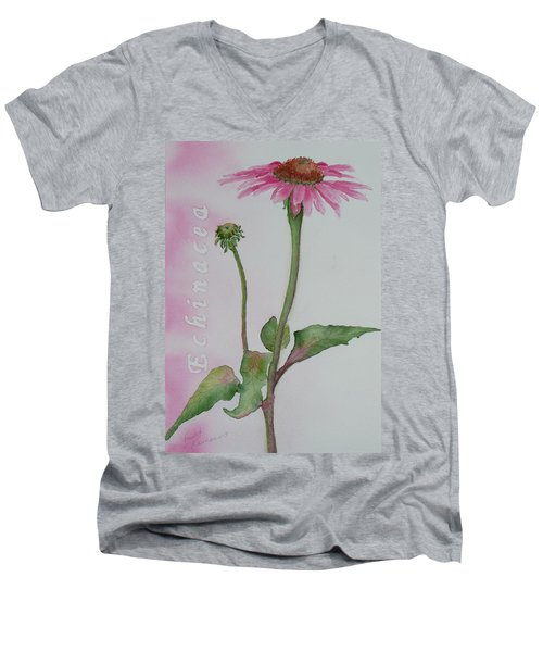 Echinacea Men's V-Neck T-Shirt