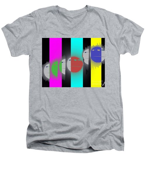 Eclipse Of Love Men's V-Neck T-Shirt