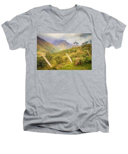 Ecuadorian Mountain Forest Men's V-Neck T-Shirt